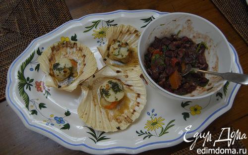 Рецепт Морские гребешки с фасолью