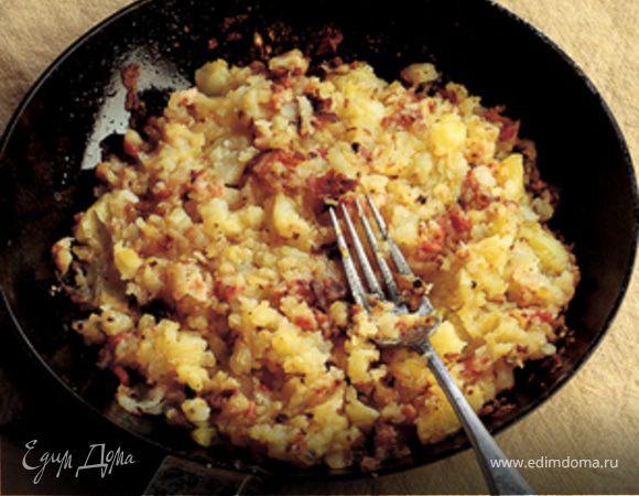 Жареный картофель с Панчетта