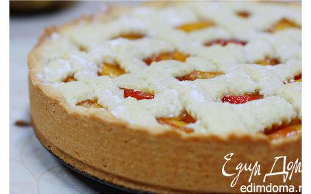 Рецепт Пирог с персиками и творогом