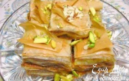 Рецепт Пахлава со сметаной