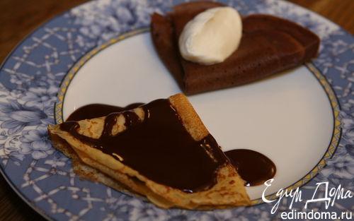 Рецепт Шоколадные блины с шоколадным соусом