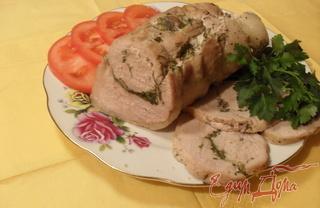 Рецепт Рулет из свинины с зеленью