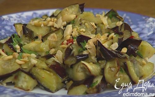 Рецепт Запеченные баклажаны с арахисом