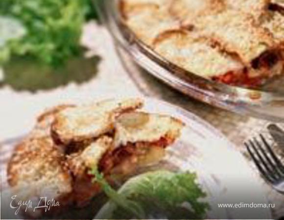 Итальянский пирог с курицей и кабачком