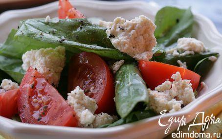 Рецепт Салат из помидоров и щавеля