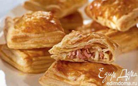 Рецепт Пирожки с ветчиной и сыром