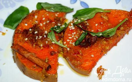 Рецепт Запечённая тыква с корицей и апельсином