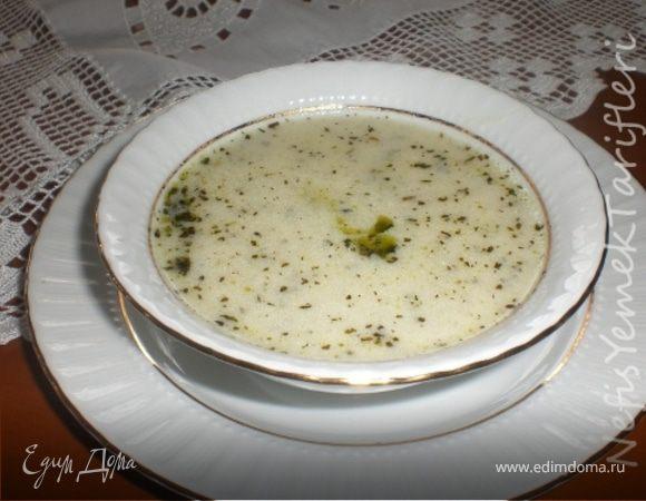 Суп из кислого йогурта (Yayla çorbası)