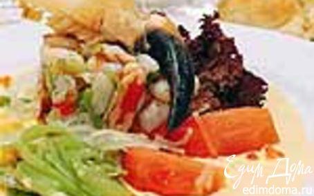 Рецепт Севиче (сорт рагу) из устриц с салатом и соусом из