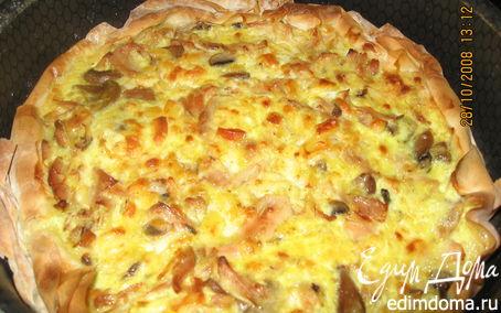 Рецепт Пирог «три сыра с курицей»