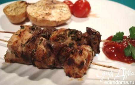 Рецепт Шашлычок из куриного филе и печени