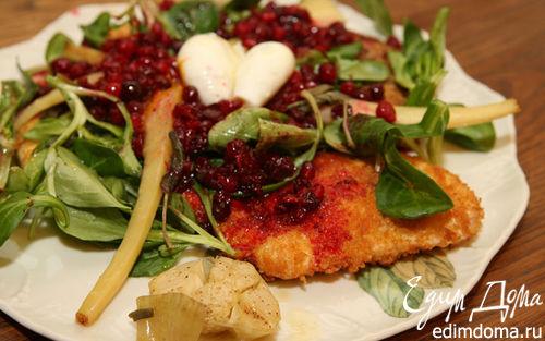 Рецепт Индейка с пастернаком и клюквенным соусом