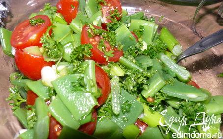 Рецепт Салат из стручковой фасоли