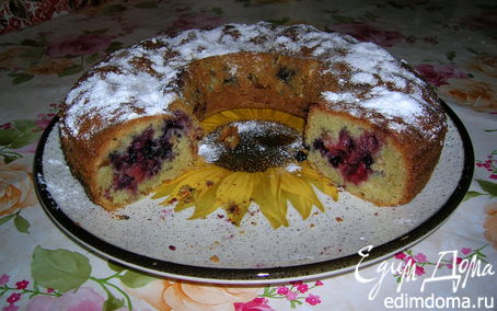Рецепт Клубнично-черничный пирог к чаю