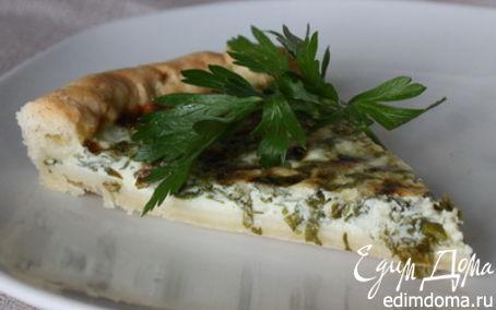 Рецепт Пирог с сыром и зеленью