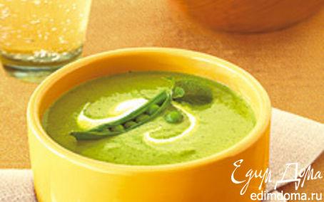 Рецепт Суп-пюре из молодого горошка с мятой