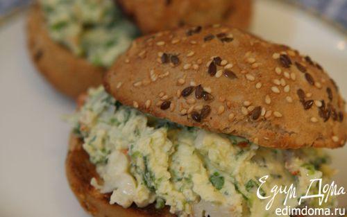 Рецепт Бутерброд с раками и сыром маскарпоне