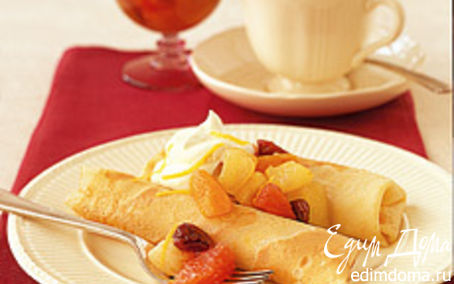 Рецепт Сладкие блинчики с сырным кремом