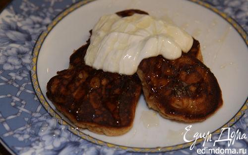 Рецепт Медовые оладьи с имбирем, гвоздикой и корицей