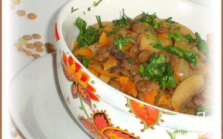 Рецепт Чечевица с грибами