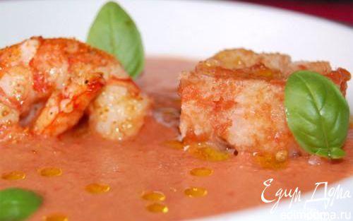 Рецепт Суп из помидоров с креветками