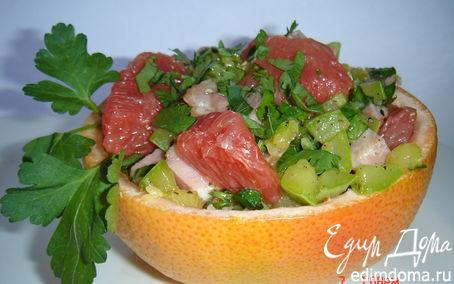 Рецепт Грейпфрутовые корзинки с начинкой