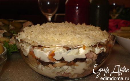 Рецепт Салат с копченой курочкой