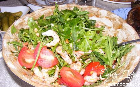 Рецепт Салатик с руколой и креветками