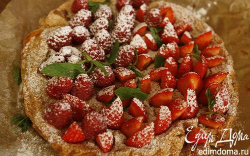 Рецепт Миндальный торт с ягодами