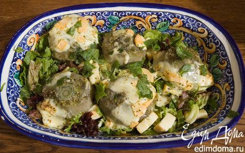 Рецепт Салат с артишоками и сыром
