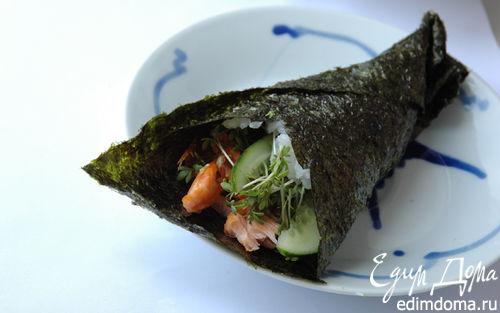Рецепт Суши-ролл с семгой
