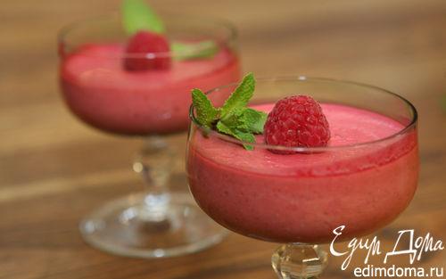 Рецепт Йогуртовый мусс с малиной и мятой