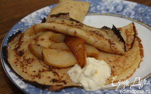 Рецепт Миндальные блины с карамелизированными грушами