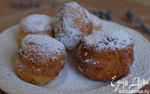 Рецепт Творожные пончики с изюмом