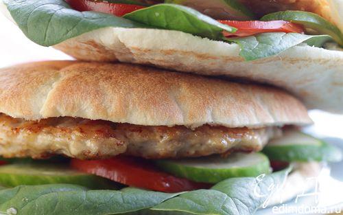Рецепт Домашний гамбургер с куриной котлеткой