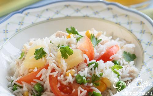 Рецепт Гавайский салат с цыпленком