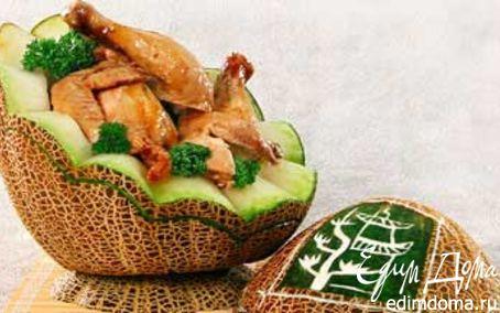 Рецепт Курица в дыне