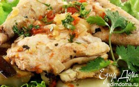 Рецепт Курица, тушенная с сухофруктами