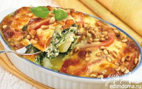Рецепт Запеканка со шпинатом и кедровыми орешка