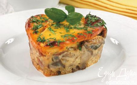 Рецепт Запеканка грибная с сыром