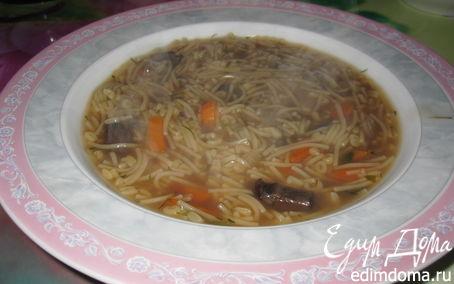 Рецепт Суп-лапша с грибами