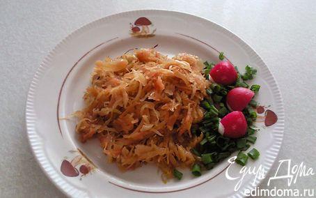 Рецепт Капуста, тушенная с яблоками