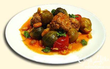 Рецепт Брюссельськая капуста с тефтельками в соусе ⎝⏠⏝⏠⎠