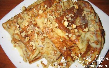 Рецепт Бисквитные блины с орехами