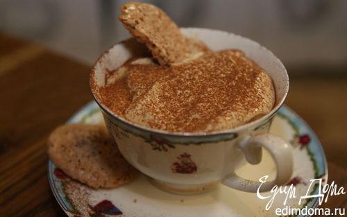 Рецепт Творожный капучино с миндальным печеньем
