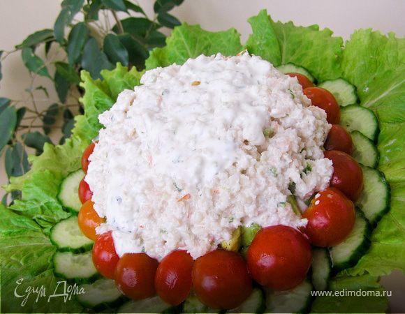 Салат из крабов и авокадо