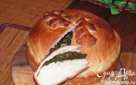 Рецепт Постный пирог с щавлем и шпинатом