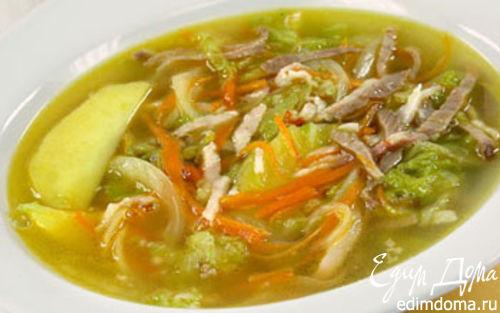 Рецепт Суп с двумя видами капусты