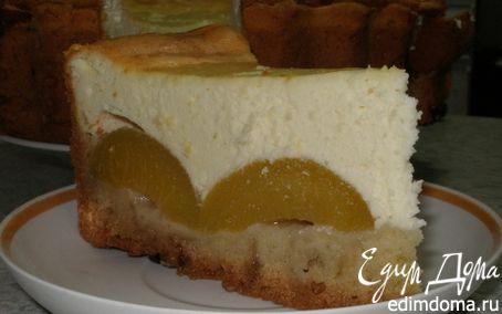Рецепт Творожно-персиковый торт