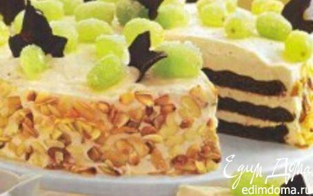 Рецепт Миндальный торт с шоколадным бисквитом